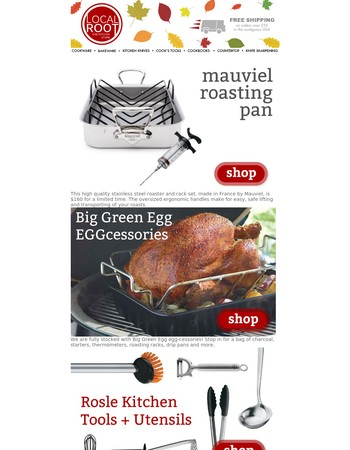 Thanksgiving Prep! Shop Essentials at Local Root The Kitchen Store