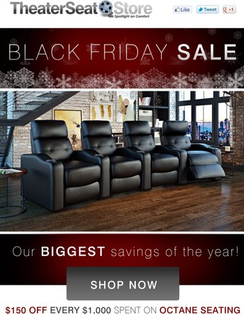 Gold in your mailbox. Black Friday is HERE!