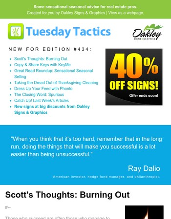 Happy Friday! Catch up on this week's Tuesday Tactics (#434)