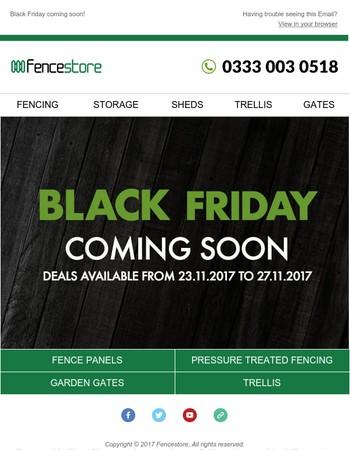 Black Friday Deals coming soon