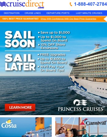 Cruise Direct Newsletter