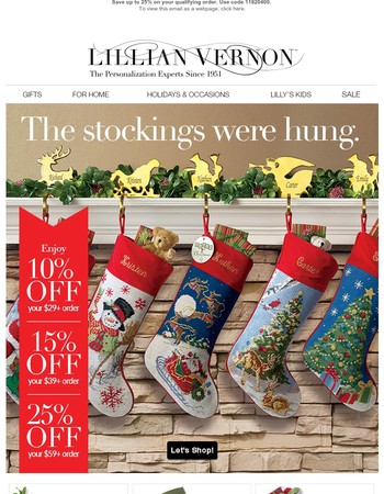 Save up to 25% on our best stockings