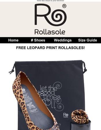 Free Leopard Print Rollasoles worth £14.95