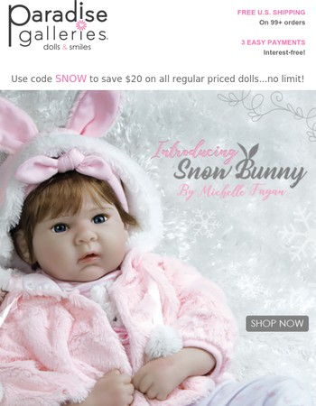 ��Our 2017 Collection is complete with Snow Bunny!