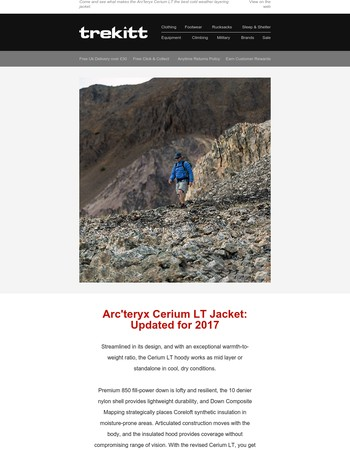 Arc'teryx Cerium LT Jacket: Updated for 2017