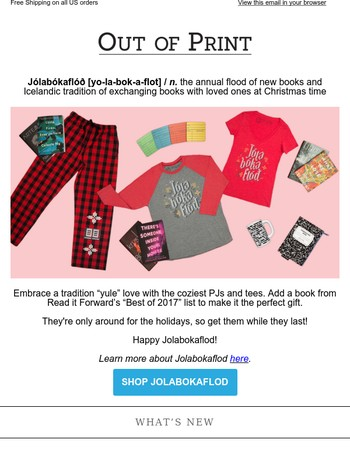 �New PJs for our new favorite holiday tradition!