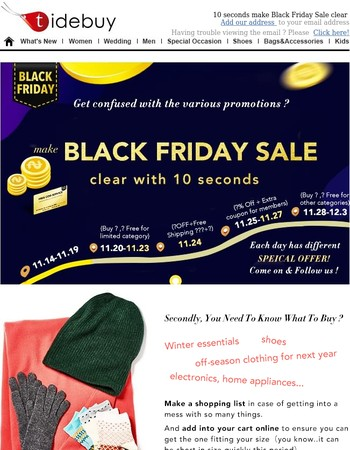 How to shop Black Friday like a pro ?—Ready to save !