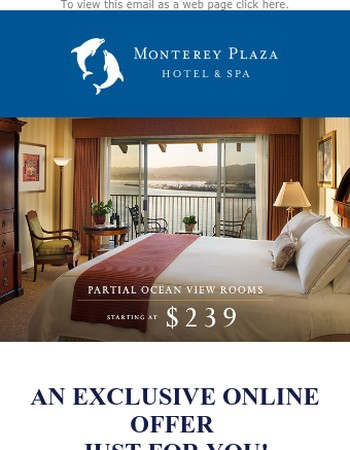 7 Days Only - Partial Ocean View Rooms Starting at $239!