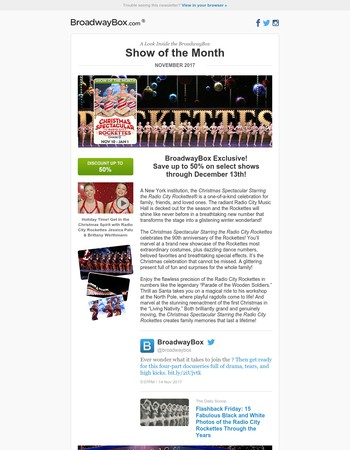 BroadwayBox Show Of The Month: Christmas Spectacular Starring the Radio City Rockettes