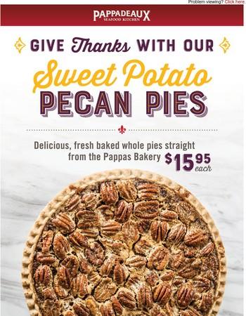 Order Your Sweet Potato Pecan Pies!