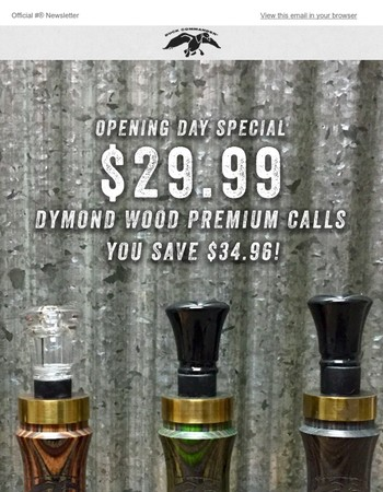 Premium Duck Call SALE (Save $34!)