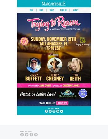 Sunday's Benefit Concert: Watch or Listen Live!