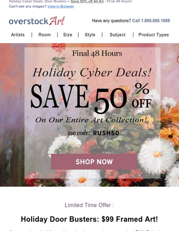 This Holiday Cyber Deal Ends in 48 Hours + Shop the Door Busters Collection!