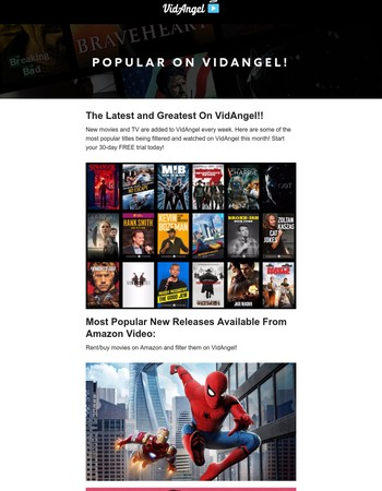 See What People Are Watching On VidAngel! Start Your Free 30-Day Trial!