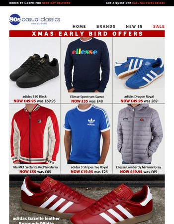 Early Bird Xmas Offers   Adidas   Gifts   Jackets