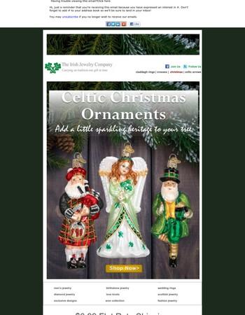 Celtic Christmas Ornaments - Huge selection