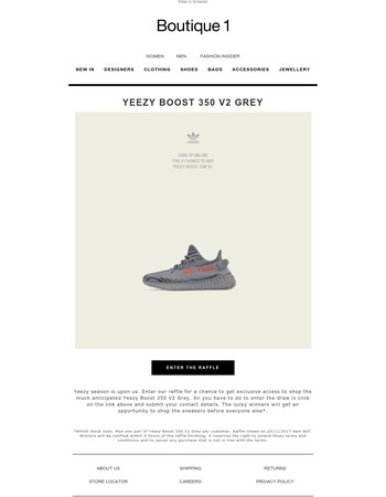 Yeezy Boost 350 V2 - Enter our raffle for a chance to buy