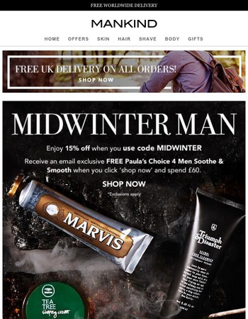 Midwinter Man | 15% Off Inside + Free Gift