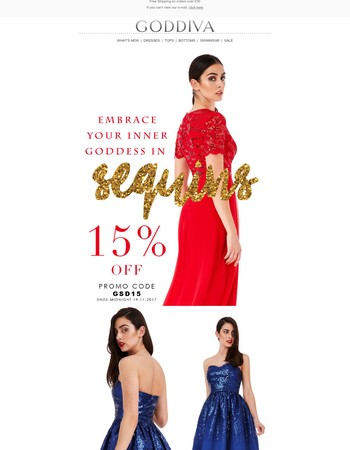 Embrace your inner goddess in sequins! 15% OFF ON SEQUIN DRESSES