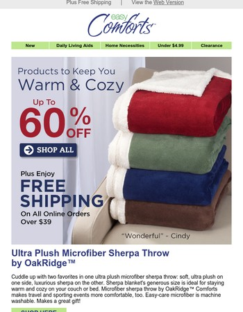 Warm & Cozy Deals Up To 60% Off