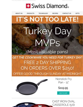 It's Not Too Late - Use The Best Cookware This Thanksgiving.