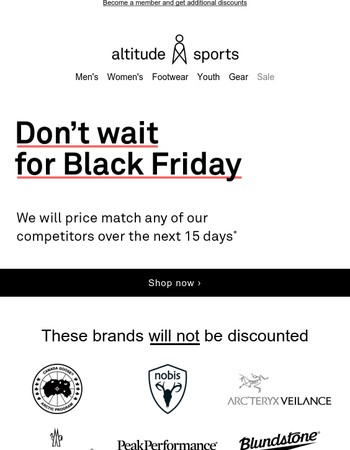 Be the first to know our Black Friday sales