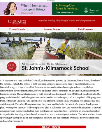 The Our Kids review of St. John's-Kilmarnock School