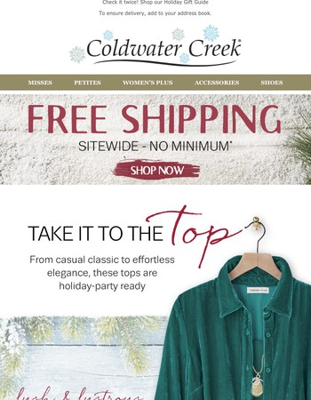 What top to wear? Wonder no more! PLUS Free Shipping!