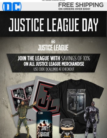 Celebrate Justice League Day with big savings!