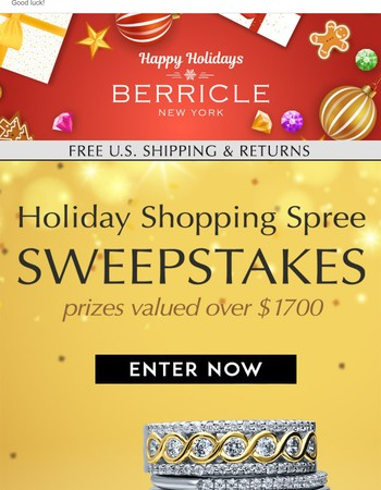 Enter to Win the Holiday Shopping Spree Sweepstakes!