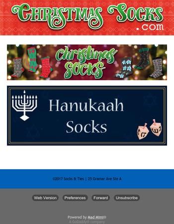 Christmas & Hanukkah Socks - Buy Now for Best Selection