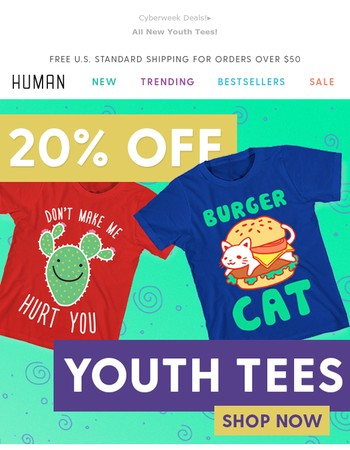 Introducing New Youth Tees!