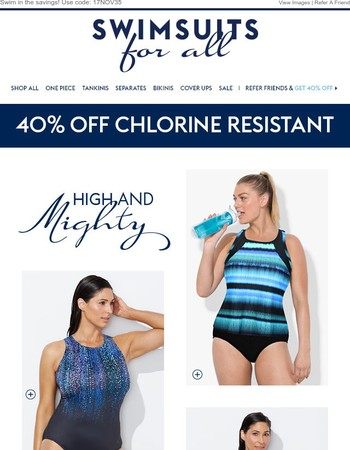Just open to check out these High-Neck Swimsuits!