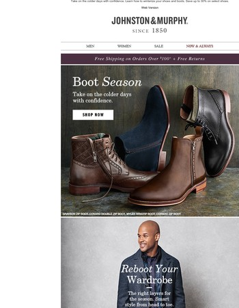 Boot Season + Save Up to 30%