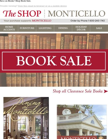 Can't live without books? Shop our BOOK SALE