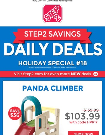 Daily Deal #18: Panda Climber and Thomas the Tank Engine Coaster!