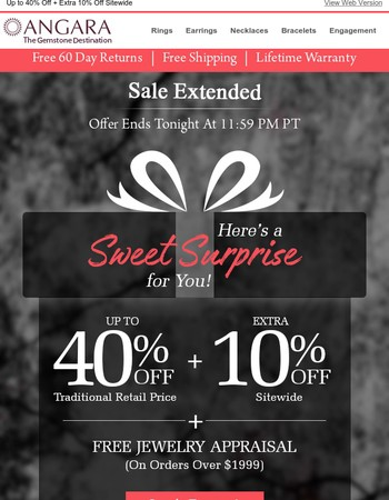 Offer EXTENDED for Today!