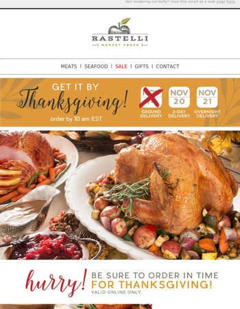 HURRY: Order for Thanksgiving!