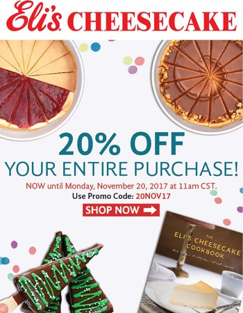 20% off means another reason to be thankful!