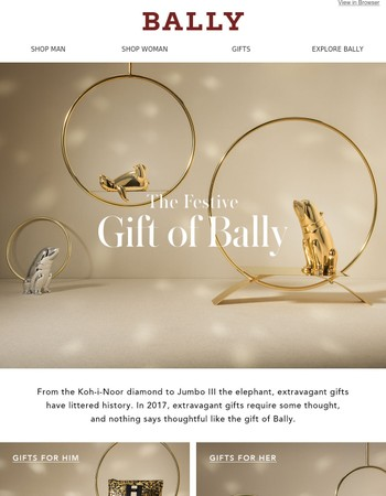 The Festive Gift of Bally