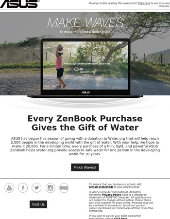 Make Waves for Someone in Need with an ASUS ZenBook