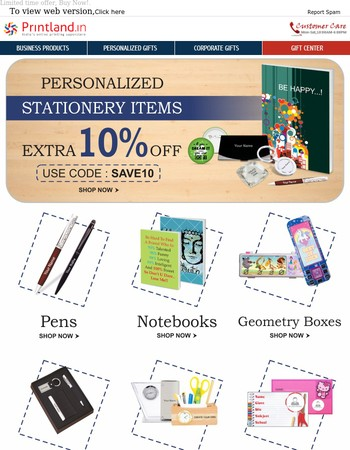 Choose The Striking Personalized Stationeries With Extra 10% Off