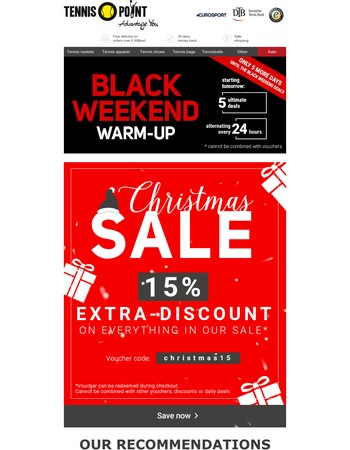 Christmas Sale: Have you already redeemed your 15% voucher?