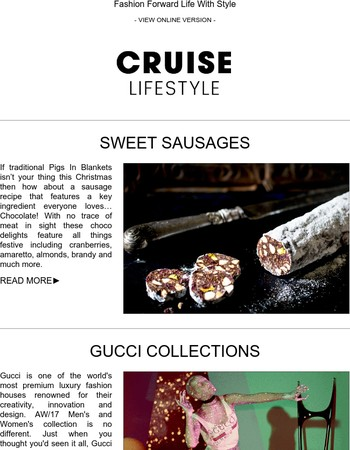 New Gucci, Designer Bags, Footwear, Festive Food And More...