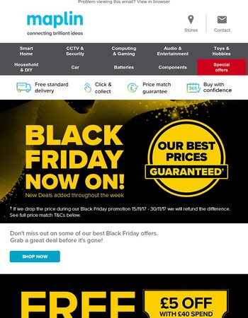 Don't miss our Black Friday deals!