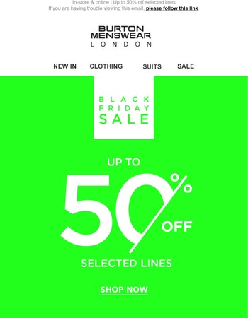 Black Friday starts here Mary - UP TO 50% OFF!