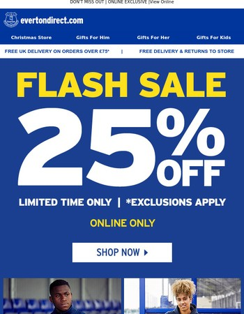 ⚡ 25% OFF SELECTED LINES! ⚡