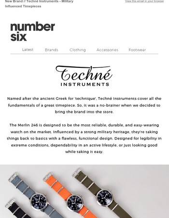 New Brand // Techné Instruments - Military Influenced Timepieces