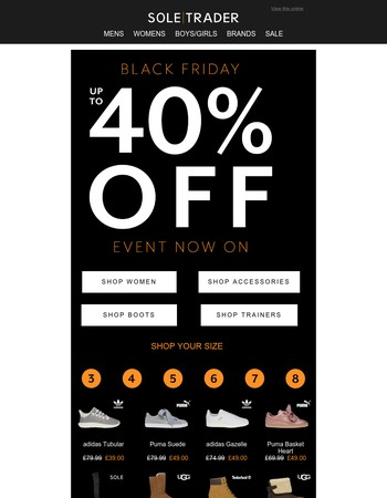 Black Friday Event Now On – up to 40% off