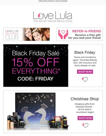 Use our Black Friday Offer in our Christmas Shop?